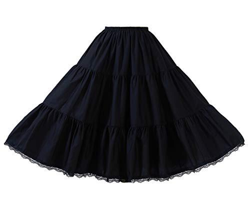 BEAUTELICATE Falda Mujer Algodón Larga Corta Combinación Enaguas para Vestido Boda Antiestática...