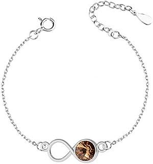 Beforya Paris – Infinity - 40 Color Variants – 925 Sterling Silver – Beautiful Women's Bracelet from Swarovski – Wonderful Bracelet with Bag and Gift Box PIO/72