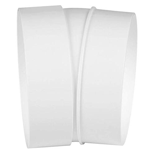 Bogen Rohrbogen Winkel 15° PVC Kunststoff Weiß Lüftungsrohr Lüftung Dunstabzug - VONLIS®
