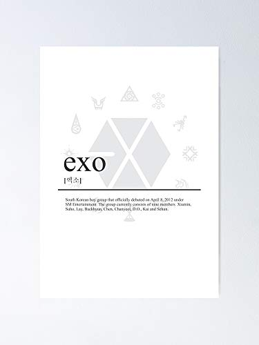 guyfam Exo Wiki Poster 12x16 Inch No Frame Board for Office Decor, Best Gift Dad Mom Grandmother and Your Friends
