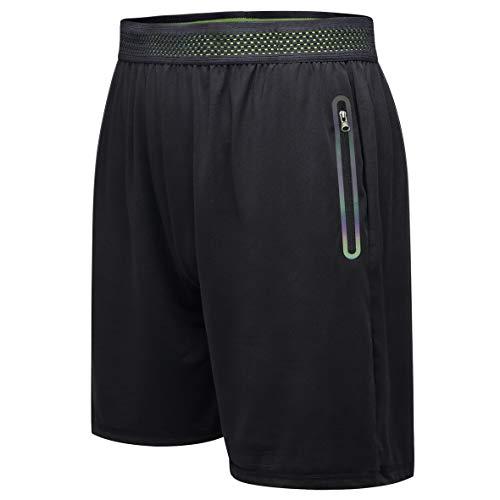 MRACSIY Pantalones Cortos Deportivos de Gimnasio para Correr para Hombre Pantalones Cortos de Entrenamiento de Entrenamiento al Aire Libre con Bolsillos (XL)