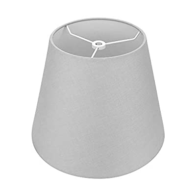 """Small Lamp Shade,Alucset Barrel Fabric Lampshade for Table Lamp and Floor Light,6x10x7.5"""",Natural Linen Hand Crafted,Spider (Grey)"""