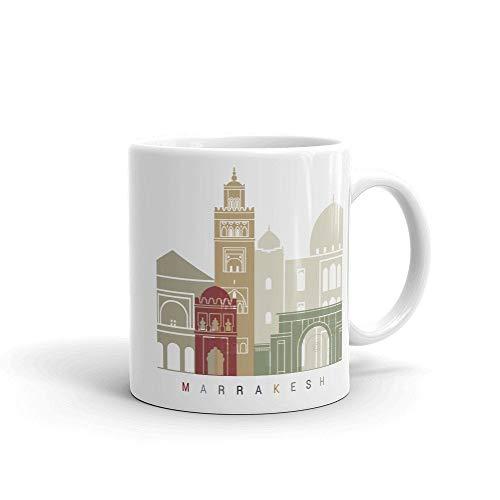 Taza de café Marrakech Marruecos, regalo para el hogar, taza de té, regalo de Acción de Gracias, regalo de Navidad, 15 onzas
