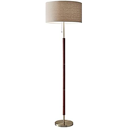 Adesso 3457 22 Hayworth 65 Floor Lamp Satin Steel Smart Outlet Compatible