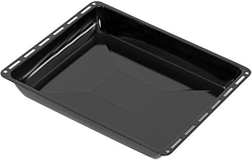 ICQN 445 x 375 x 40 mm Backblech | Extra Tiefe 4 cm | Passend für Whirlpool Ignis Bauknecht | Emailliert | Fettpfanne für Backofen | Kratzfest | 44,5 x 37,5 cm