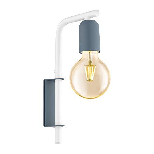 EGLO ADRI-P lámpara de pared, 60 W, Color azul oscuro pastel