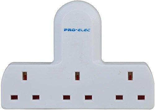 PRO ELEC 250 V 13 A 3 Way Triple UK Mains 3 Pin Adapter Plug