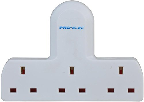 pro elec 250 V 13 A 3 Way/Triple UK Mains 3 Pin Adapter Plug