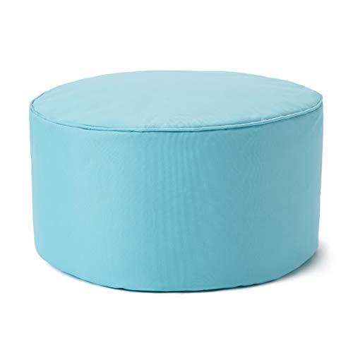Lumaland Taburete de Interior y Exterior, puf, Silla, Impermeable - Verde Azulado