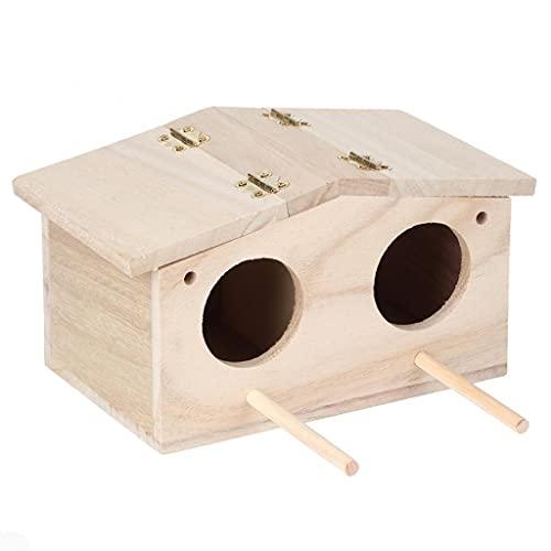 SCDCWW Pájaro de Madera Nido Creativo Loro Jaula pájaros Caja de cría de la casa jardín pájaro pájaro Colgando periquitos pinzones gorriones Bird House