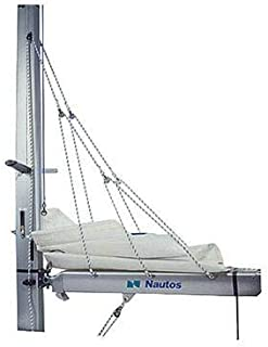 Nautos 003FS- Lazy Jack System - Type C - Large Size - 39 to 46 FEET Sailboats - with SELF GRIPPING FURLING Straps