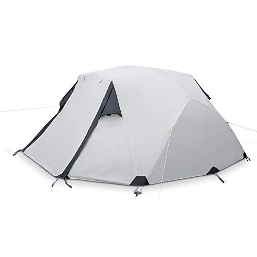 RLQ Camping Tent, 2-3 Person Double Waterproof Tent, All Season Outdoor Mountainee Equipment