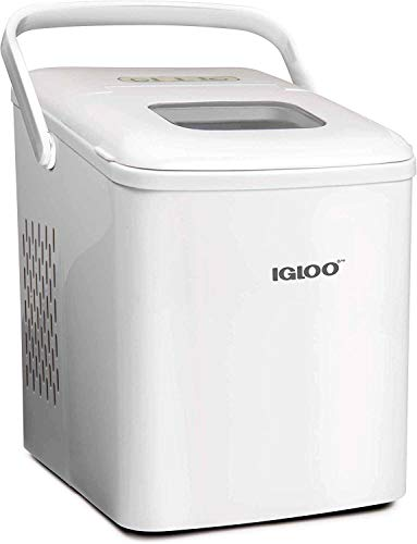 Igloo ICEB26HNWHN Automatic Self-Cleaning Portable Electric Countertop Ice Maker Machine With...