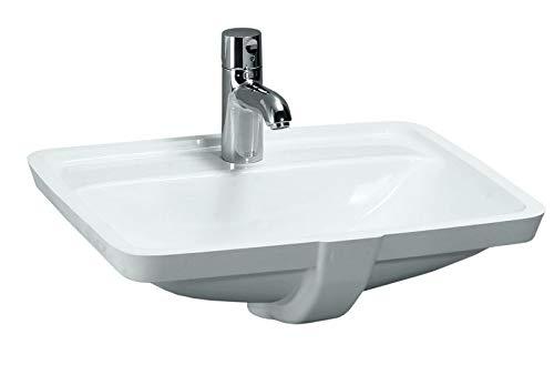 Laufen PRO S Einbauwaschtisch, ohne Hahnloch, mit Überlauf, 525x400, US geschl, weiß, Farbe: Weiß