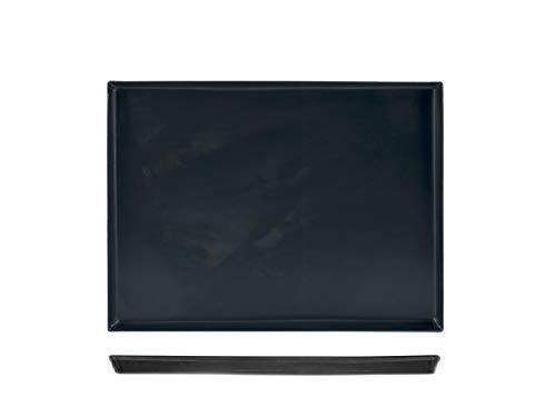 Pentole Agnelli Teglia blurex Rettangolare 40x30 Pentole e Preparazione Cucina, Lamiera Blu, Nero, 40x30x3 cm