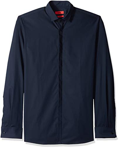 Hugo Boss Hugo by Herren Ewing Smokinghemd, Navy, 37 EU
