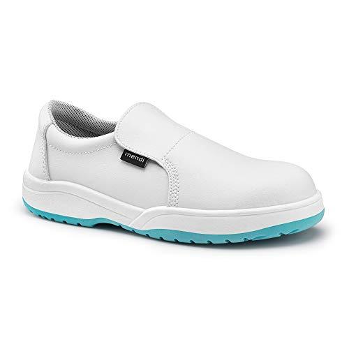 Zapato de Seguridad para Hombre y Mujer/Zapato de Trabajo Comodos con Puntera Reforzada de Acero Calzado Laboral Antideslizantes antifatiga Ligero y Muy Comodos (Blanco, Numeric_40)