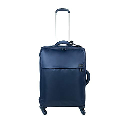Lipault - Original Plume Spinner 65/24 Luggage - Medium Suitcase Rolling Bag for Women - Navy