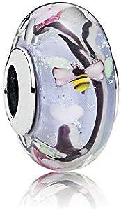 LYDXD Fit Pandora Pulsera 925 Plata Esterlina Abalorio Jardín Encantado Cristal De Murano Mujeres Brazalete DIY Joyería Regalo