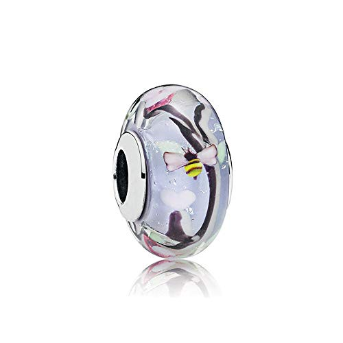 Fit Pandora Bracelet 925 Sterling Silver Charm Bead Enchanted Garden Murano Glass Women Bangle Diy Jewelry Gift