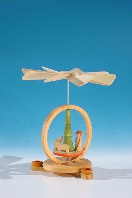 Rudolphs Schatzkiste Wärmespiel Miniatur-Pyramide mit Hirte und Schafen für den Heizkörper oder Puppenkerzen(7mm x 40mm) Höhe ca 10 cm NEU Tischpyramide Minipyramide Seiffen Erzgebirge
