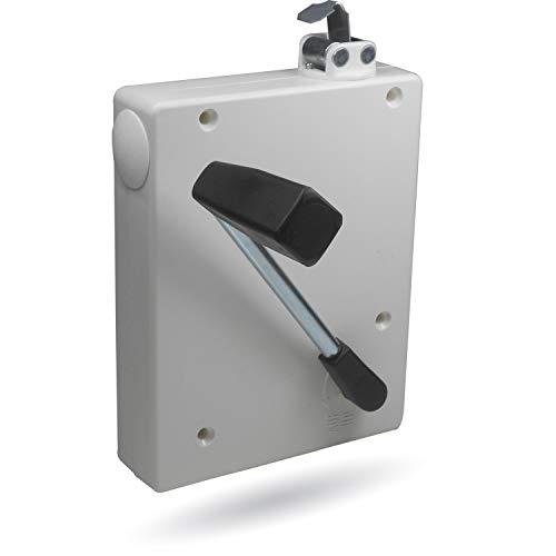 Rolladen Kurbelwickler Getriebewickler inkl. Kurbel für Gurte bis 16mm mit Einfädelautomatik