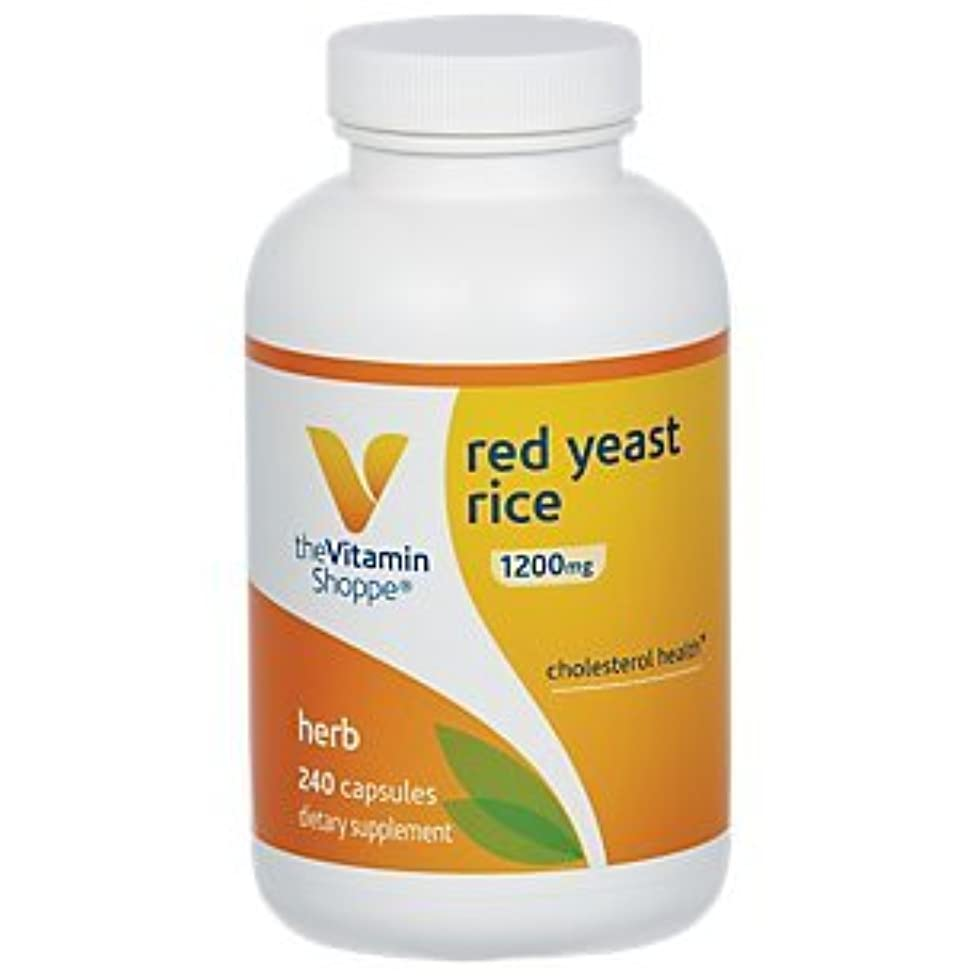 Red Yeast Rice 1200mg, Supports Cholesterol Cardiovascular Health Supports a Healthy Heart, Gluten Free, Dairy Free (240 Capsules) by The Vitamin Shoppe