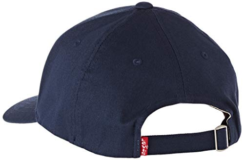 LEVIS FOOTWEAR AND ACCESSORIES Men's Mid Batwing Flexfit Flat Cap, Blue (Navy Blue 17), One (Size: UN)