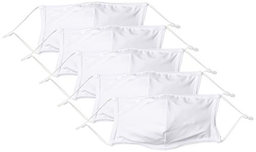 [Angel Luna(エンジェルルナ)]マスク 夏用 水着素材 水着生地 洗えるマスク 冷感マスク 布 洗える mask ますく 5枚入り ホワイト 約37cm*13cm (FREE サイズ)
