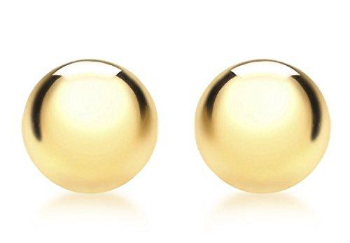 Carissima Gold Damen 9k (375) Gelbgold 10mm Halb Ball Poliert Ohrstecker 1.55.0513