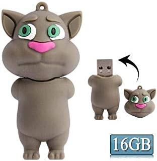 USB Flash Drive Talking Tom Cat Shape Cartoon Silicone USB Flash Disk Computer