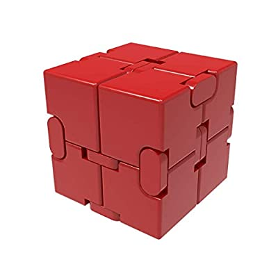 Infinity Cube, New Version Fidget Finger Toys Aluminum Alloy Infinite Cube Prime for Stress and Anxiety Relief/ADHD Ultra Durable Cool Mini Gadget Sensory Tool EDC Fidgeting Game for Kids and Adults from GRHOSE