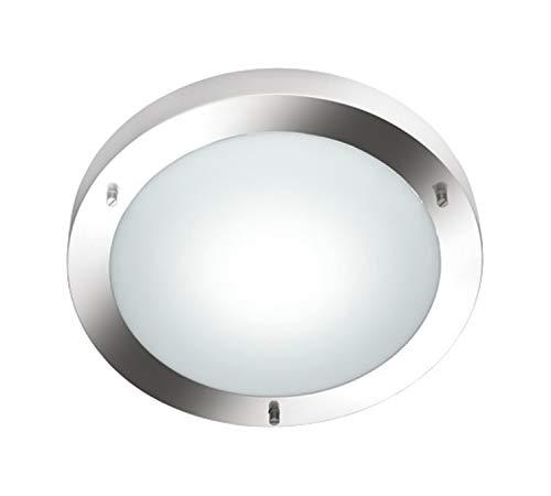 Preisvergleich Produktbild Trio-Leuchten Deckenleuchte 6801011-07 Condus,  Metall Nickel matt,  Glas opal matt weiß,  exkl. 1 x E27