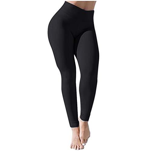 Fannyfuny Leggings Mujer Vestir Casuales Pantalones Yoga Deporte Plisados de Estiramiento Elásticos de Cintura Alta Suaves legings de Fitness Chándal
