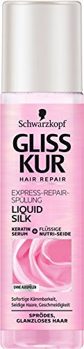 SCHWARZKOPF GLISS KUR Express-Repair-Spülung Liquid Silk, 6er Pack (6 x 200 ml)