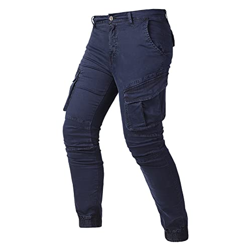 Tuta da Uomo Pantaloni Moda Moto Casual Design Multi-Tasca Pantaloni Casual in Vita Elastica Pantaloni da Trekking all'aperto 40