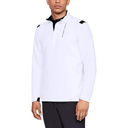 Under Armour - Golf-Pullover & -Sweatshirts für Herren in Wht/ Wht/ Blk, Größe XXL
