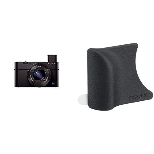 Sony RX100 III Fotocamera Digitale Compatta, Sensore da 1.0'', Ottica 24-70 mm F1.8-2.8 Zeiss, Schermo LCD Regolabile & AGR2 Impugnatura per DSC RX100, DSC RX100M2, DSC RX100M3, DSC RX100M4