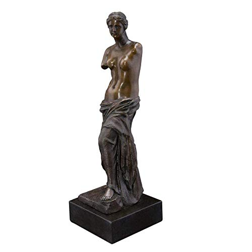 RFGTH Figuras Kunst Decoración Bronce Gebrochen Brazo Estatua de Venus Skulptur Alte K & uuml; nstler ber & uuml; hmte Figur Venus Figuren