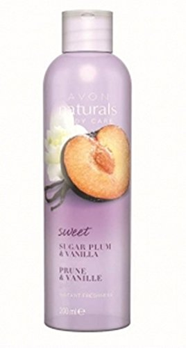 Avon Naturals Süße Pflaume & Vanille Duschgel 200 ml