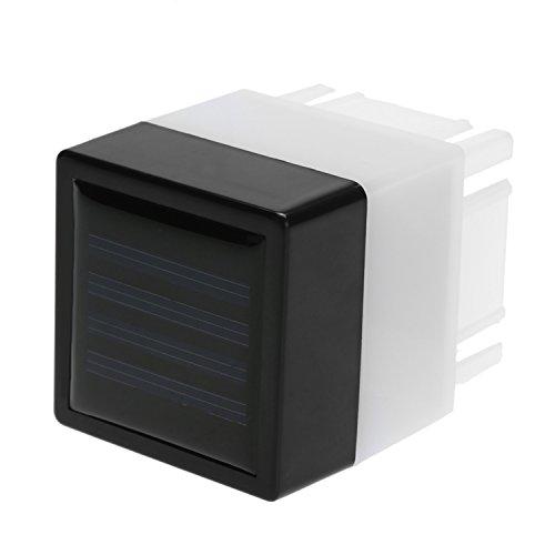 Gartensolarleuchten Außen Lampe Leicht zu installierende Sicherheitsleuchte (1pcs) LED Solar Zaun-Pfosten-Kappen-Licht im Freien Garten-Yard-Pool Wasserdicht White Lights Wegbeleuchtung