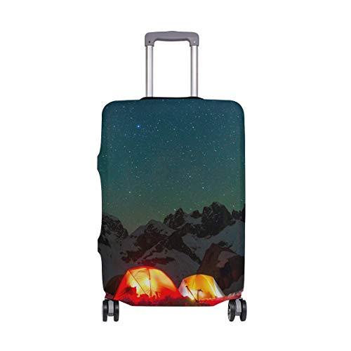 Promini - Funda para Maleta de Viaje con Dibujo de pájaros y Acuarelas, Lavable, con Elastano, elástico, Antipolvo, 45,7 a 81,2 cm