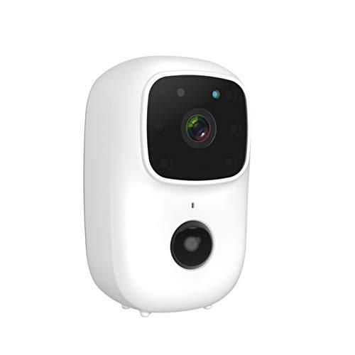 SKTE Tuya Inalámbrico WiFi Timbre Inteligente Cámara de Vídeo Cámara de Seguridad Inalámbrica Exterior/Interior 1080P Mini Portátil Impermeable Cámara de Visión Nocturna Timbre