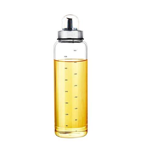 Zhiyangmaoyi ドレッシングボトル オイルボトル 醤油差し スパイスボトル オイルポット 耐熱ガラス 調味料入れ 500ml