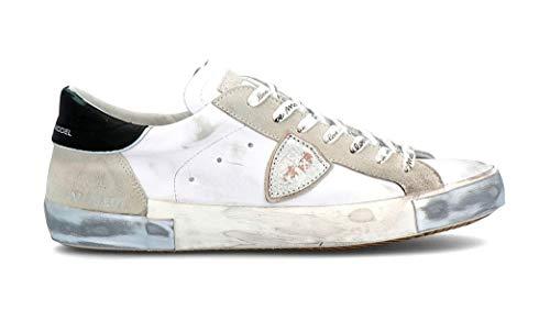 Philippe Model Sneaker Paris X In Pelle E Camoscio Bianchi