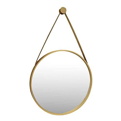 HLWJXS Spiegel Wand Make-Up Spiegel, Nordic Hanging Dekorative Badezimmer Concise Modern Rund,Durchmesser 40Cm