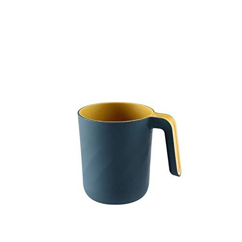 Eenvoudige duurzame Badkamer Tandenborstel Cup Tandpasta Houder Straw Cup Drinkende plastic Wash Gargle Cup voor water sap melk LS*D