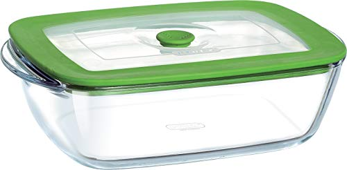 Pyrex 4936415 Dish 4 in 1 23 x 15 cm with Steaming Lid Rectangular
