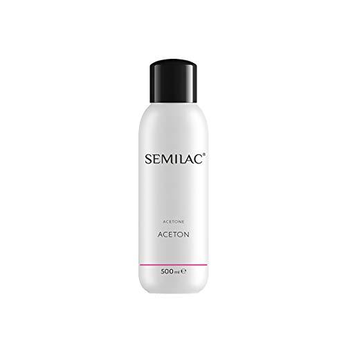Semilac Remover Acetone Nagellackentferner | 500 ml | Für Hybridlack | Professioneller UV LED Nagellack Reiniger für Maniküree und Pediküre | Dermatologisch Getestet