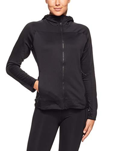 adidas Damen Trace Rocker Hooded Fleece Kapuzen-Sweatshirt, Black, 38